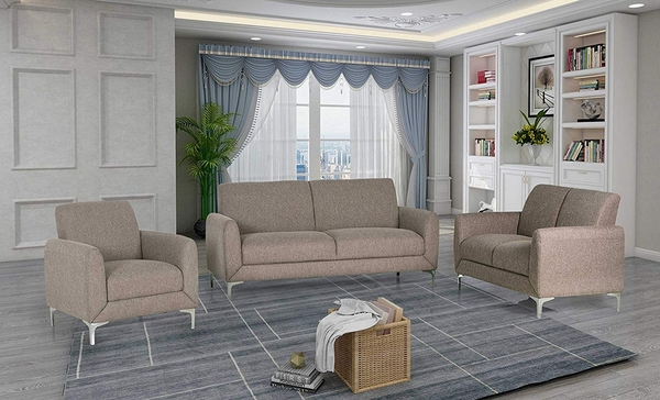 Damian Wheat Fabric 2-Seat Sofa by Best Master Furniture