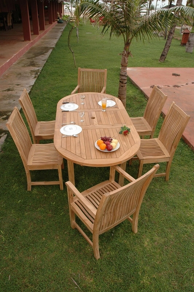 Bahama Chicago 7-Pc Natural Finish Dining Set by Anderson Teak