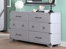 Orchest Gray Wood 6-Drawer Dresser by Acme