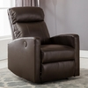 Sean Brown Leather Power Reading Recliner by AC Pacific