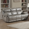Estella 3-Pc Gray Leather Gel Manual Recliner Sofa Set by AC Pacific
