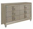 Loudon Champagne Metallic Wood Youth Dresser by Homelegance