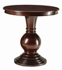 Alyx Espresso Wood Round Pedestal Accent Table by Acme