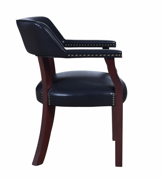 Andie Blue Leatherette/Cappuccino Wood Office Chair by Coaster