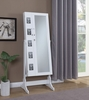 Booster White Wood Jewelry Armoire by Coaster