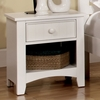 Corry White Wood Nightstand by Furniture of America