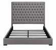 Camille Grey Fabric King Bed with Extra Tall Headboard by Coaster
