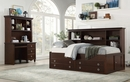 Meghan Espresso Wood Twin Daybed with Storage by Homelegance