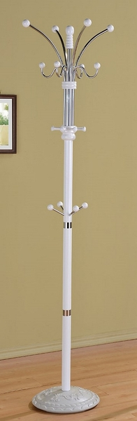 Emilee White Wood/Metal Coat Rack by Asia Direct
