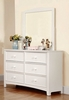 Corry White Wood Dresser by Furniture of America