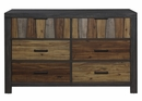 Cooper Multi-Tone Wire Brushed Finishes Wood Dresser by Homelegance