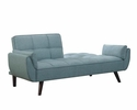 Caufield Turquoise Blue Woven Fabric Sofa Bed by Coaster