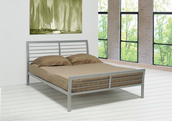 Cooper Contemporary Silver Metal Full Platform Bed by Coaster