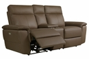 Olympia Raisin Power Recliner Loveseat with Console by Homelegance