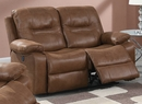 Heaven Dark Brown Leatherette Power Recliner Loveseat by Poundex