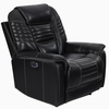 Cataleya Black Top Grain Leather 3xPower Recliner by Coaster