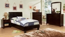 Corry Dark Walnut Dresser with Mirror by Furniture of America
