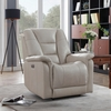 Emberly Cream Top Grain Leather 3xPower Recliner by Coaster