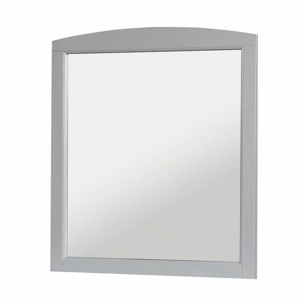 Caren Gray Wood Mirror by Furniture of America