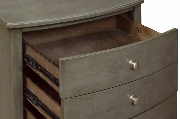 Cotterill Gray Wood 3-Drawer Nightstand by Homelegance