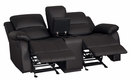 Clarkdale Dark Brown Manual Recliner Loveseat w/Console by Homelegance