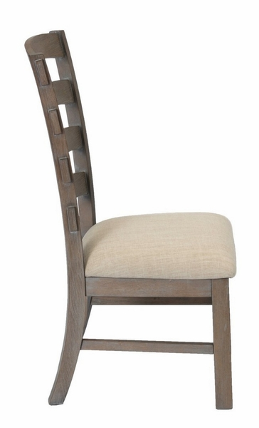 Bruna 2 Beige Linen Fabric/Wood Side Chairs by Best Quality Furniture