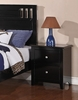 Rosario Black Wood 2-Drawer Nightstand by Poundex