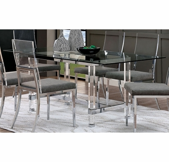 Casper Clear Glass Acrylic Dining Table By Furniture Of America