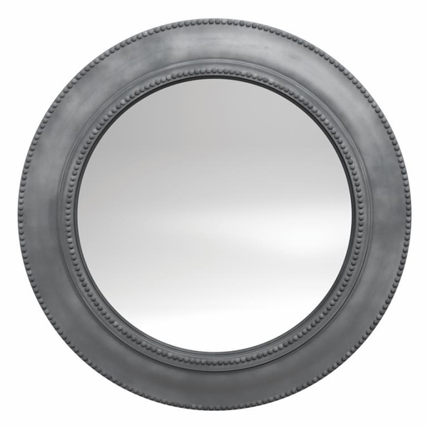 Annalise Gray Round Wall Mirror by Coaster