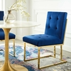 Privy Navy Fabric/Gold Metal Side Chair by Modway