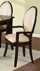 Agnese 2 Espresso/Beige Dining Arm Chairs by Asia Direct