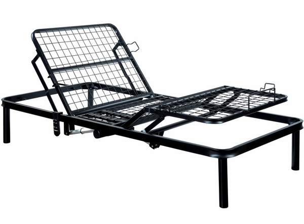 Framos Black Adjustable Twin XL Bed Frame by Furniture of America