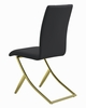 Chantar 4 Black Leatherette/Brass Metal Side Chairs by Coaster