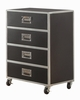 LeClair Black/Silver Metal 4-Drawer Chest by Coaster