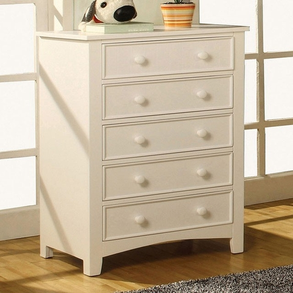 Corry White Wood Chest by Furniture of America