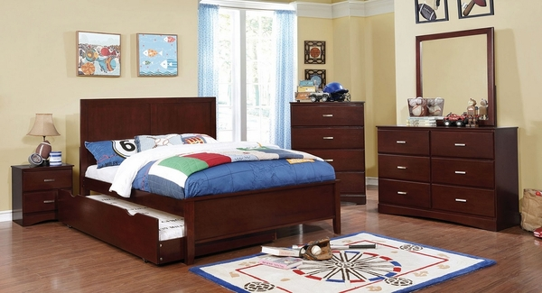 Prismo Cherry Wood 5-Drawer Chest by Furniture of America