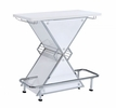 Asha Glossy White Acrylic Bar Unit with Metal Frame by Coaster