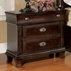 Arden Brown Cherry Wood 3-Drawer Nightstand by Furniture of America