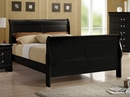 Louis Philippe 4-Pc Black Wood Full Sleigh Bedroom Set by Coaster