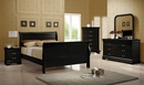 Louis Philippe 5-Pc Black Wood Full Sleigh Bedroom Set by Coaster