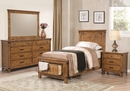 Brenner 4-Pc Rustic Honey Wood Twin Storage Bed Set by Coaster