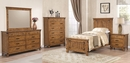 Brenner 5-Pc Rustic Honey Wood Twin Panel Bed Set by Coaster