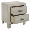 Quinby 4-Pc Light Brown Wood Twin Bedroom Set by Homelegance