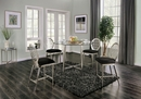 Abner 2 Black Microfiber Counter Height Chairs by Furniture of America