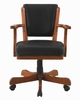 Mitchell Black Leatherette/Chestnut Wood Game Chair by Coaster