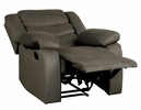 Discus Brown Fabric Manual Recliner by Homelegance