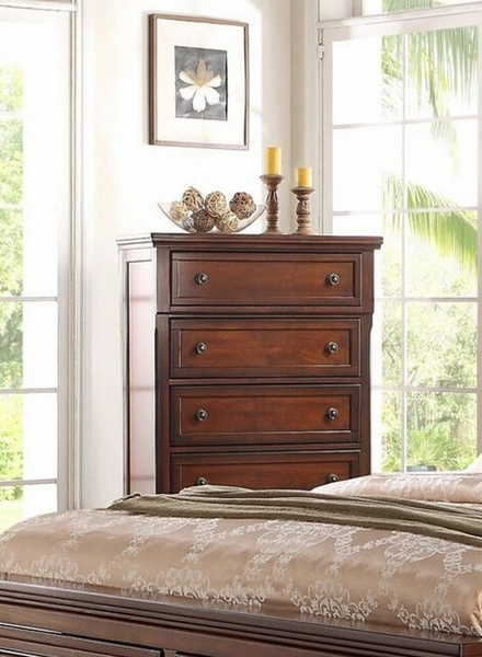 Alessa Cherry Wood Chest by McFerran Home Furnishings