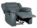 Discus Gray Fabric Manual Recliner by Homelegance