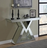 Amala Clear Mirror Console Table with Triangular Base by Coaster