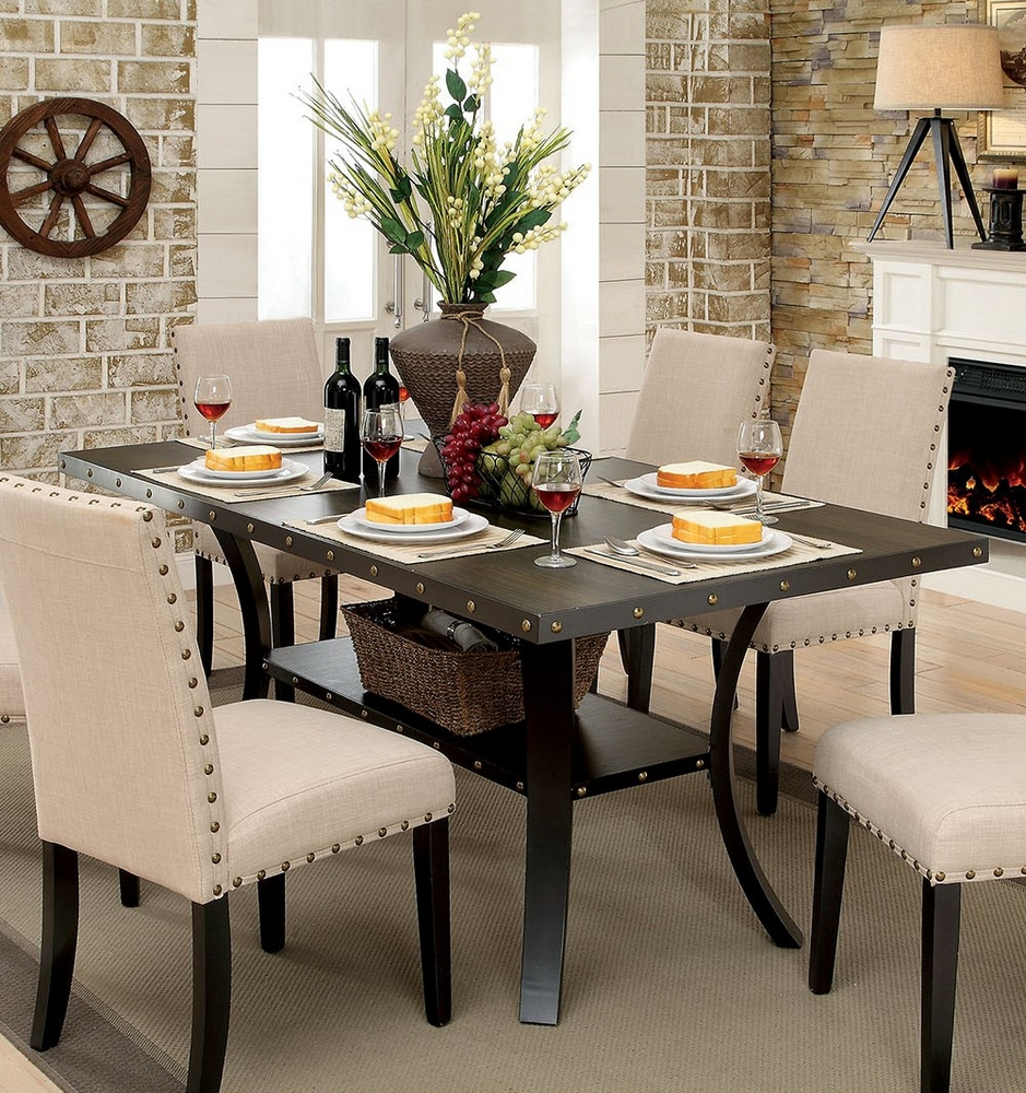 Kaitlin Light Walnut Wood Dining Table By Furniture Of America